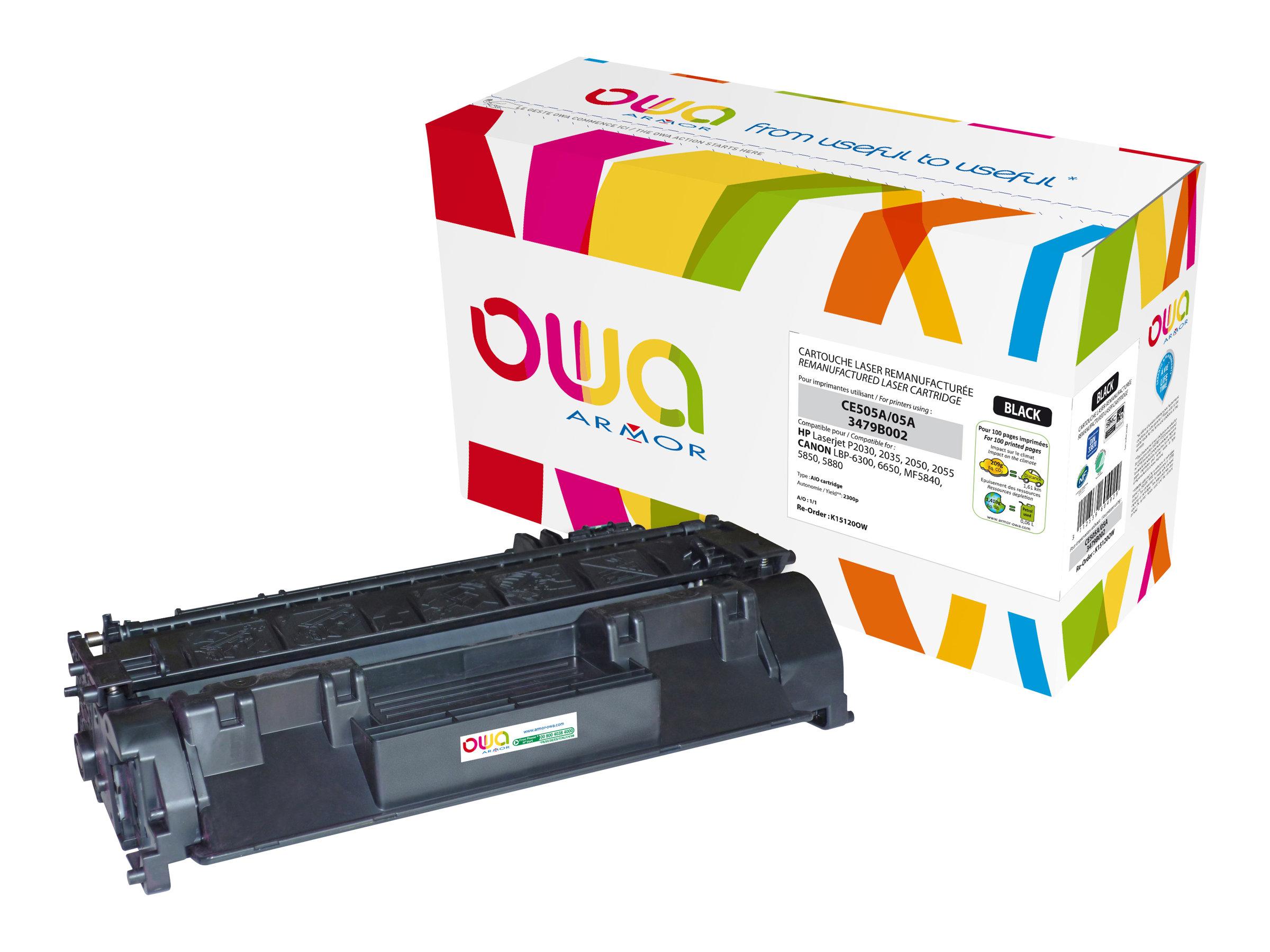 HP 05A - remanufacturé Owa K15120OW - noir - cartouche laser