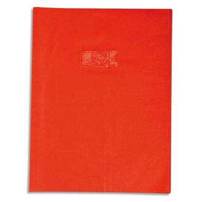 Calligraphe - Protège cahier sans rabat - 24 x 32 cm - grain losange - rouge