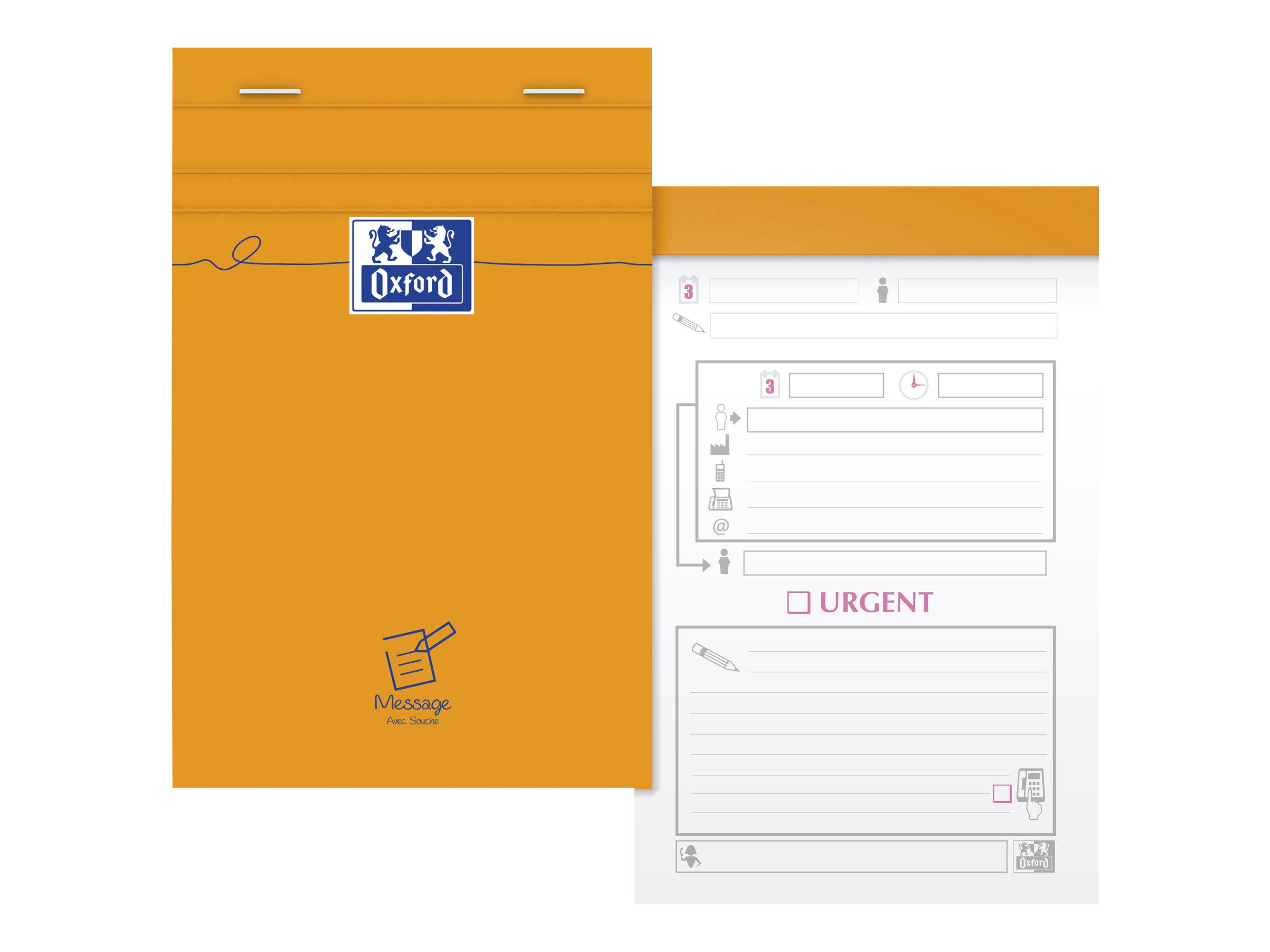 Oxford - Bloc notes - 11 x 17 cm - 160 pages - 80g - orange