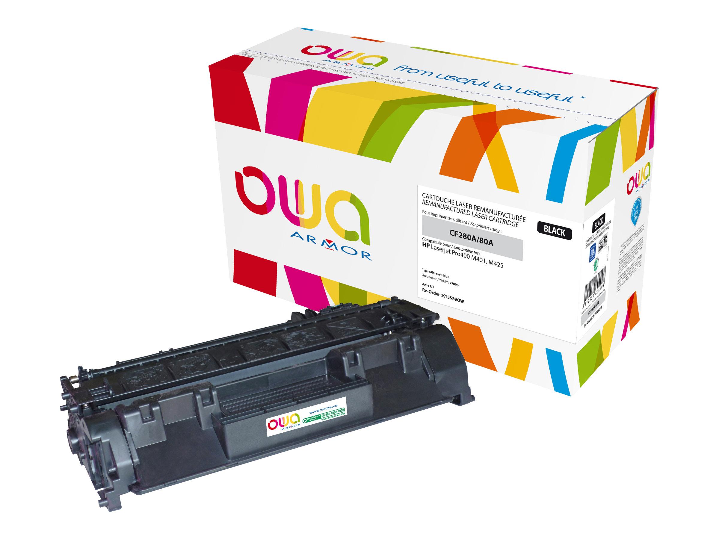 Owa K15589OW cartouche équivalente HP 80A - noir