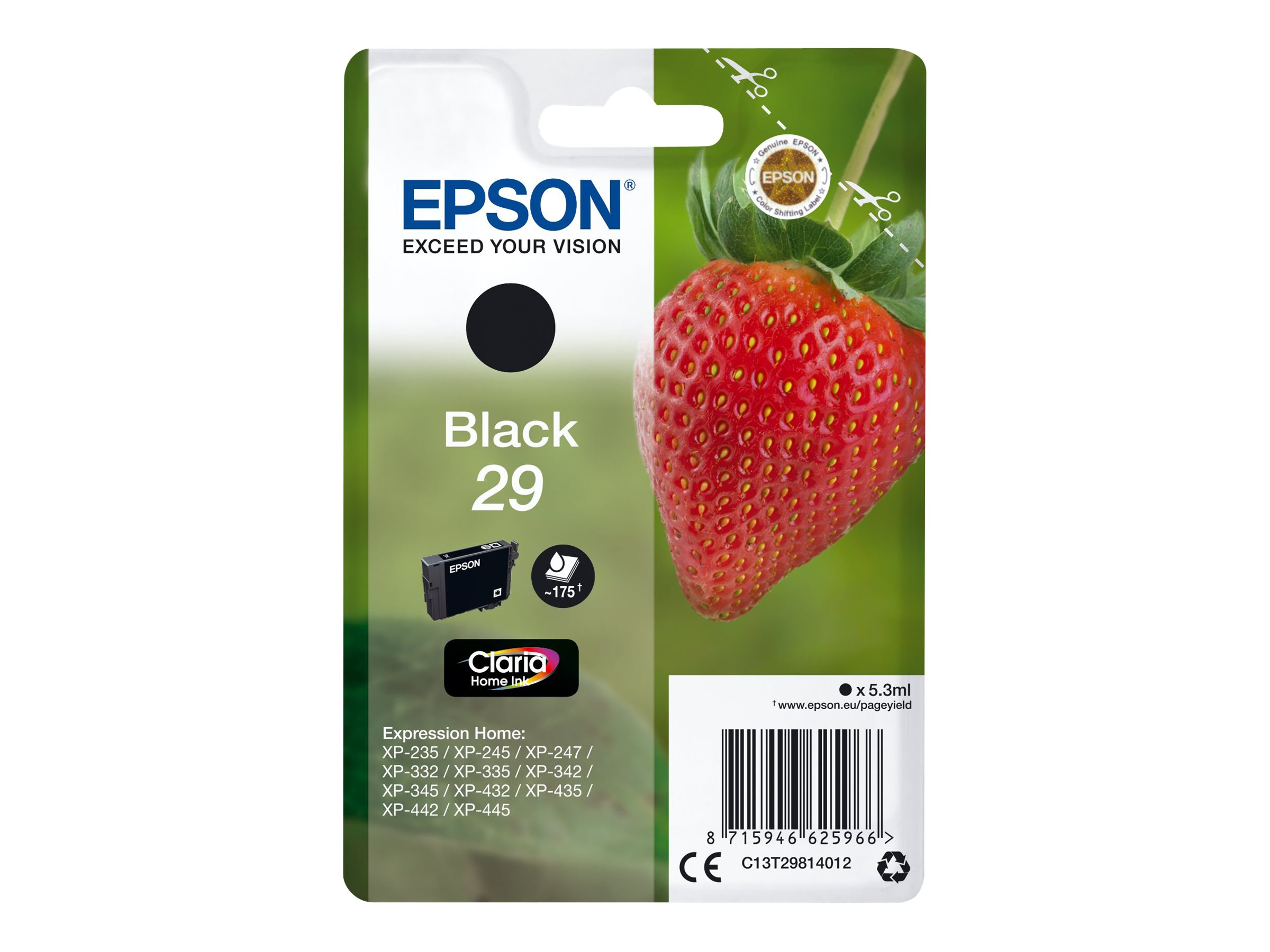 Epson 29 Fraise - noir - cartouche d'encre originale