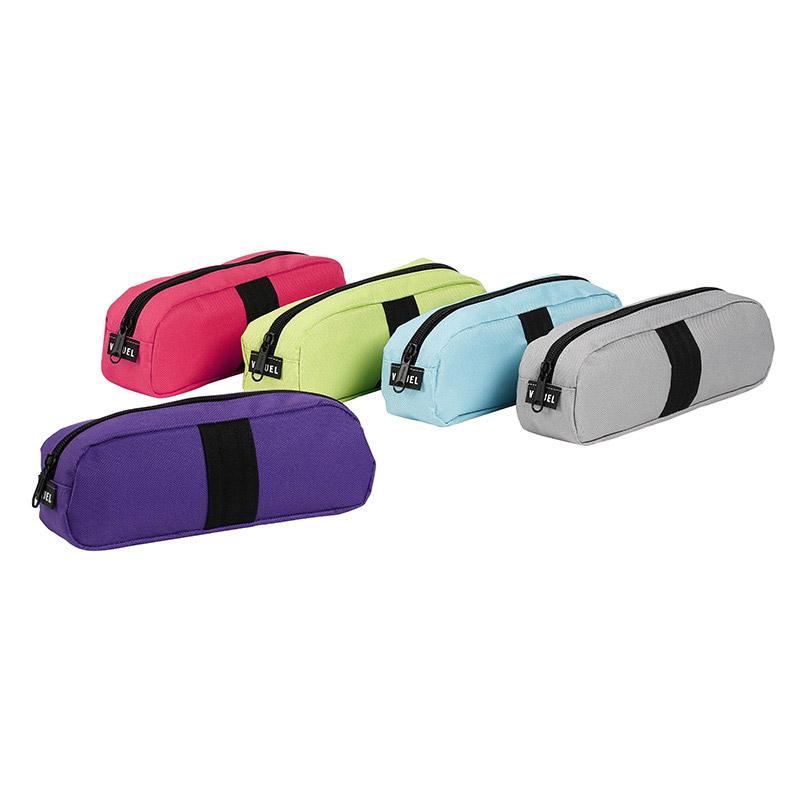 Trousse rectangulaire Stripe - 1 compartiment - 5 coloris disponibles - Viquel