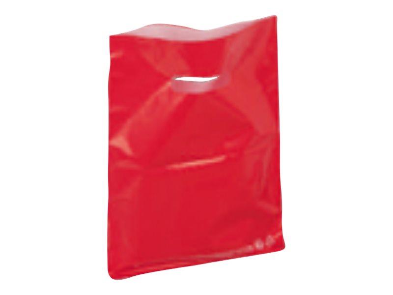Carton Service - 100 Sacs plastique PDR - 25 x 32 cm - rouge