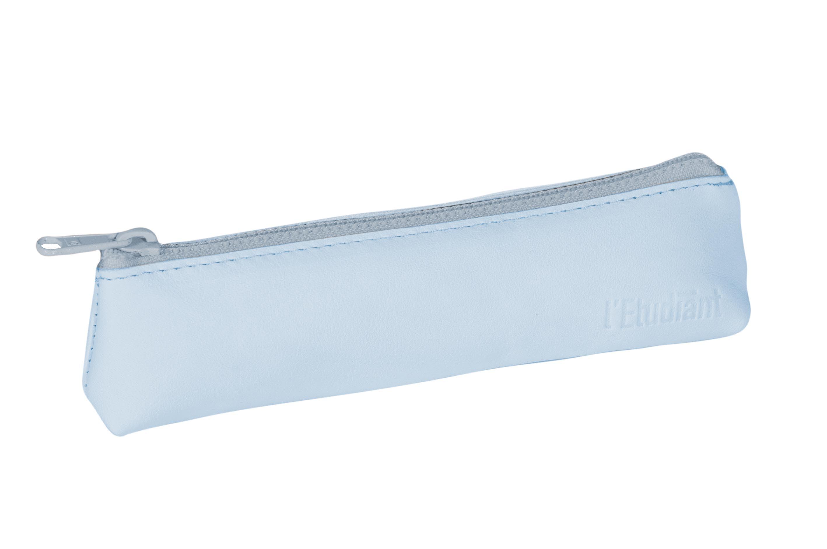 L'Étudiant - Trousse plate cuir 1 compartiment - différents coloris pastels disponibles - Hamelin