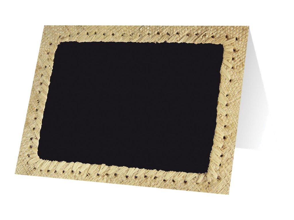 Bequet - 10 Chevalets de comptoir - 7 x 5 cm - cadre beige