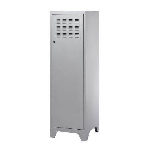 Casier de bureau avec pieds - 133 x 40 x 40 cm - aluminium
