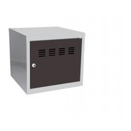 Casier cube / Vestiaire - 36 x 40 x 40 cm - aluminium/anthracite