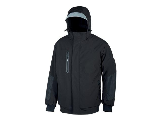 Veste coupe-vent noir - capuche avec visière - Taille L - Blaze U-Power