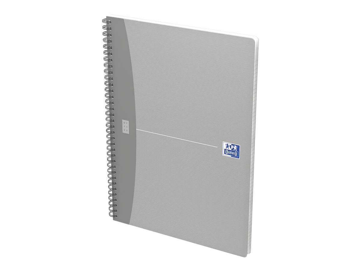 Oxford Office Essentials - Cahier A4 (21x29,7 cm) - 100 pages - grands carreaux (Seyes) - disponible dans différentes couleurs