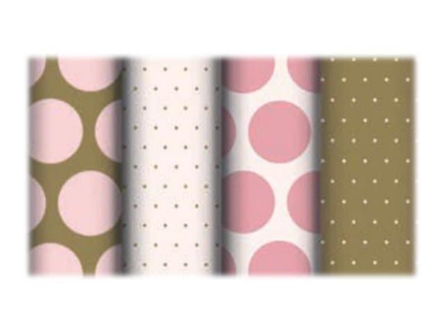 Clairefontaine Excellia - Papier cadeau - 70 cm x 2 m - 80 g/m² - pois rose et or
