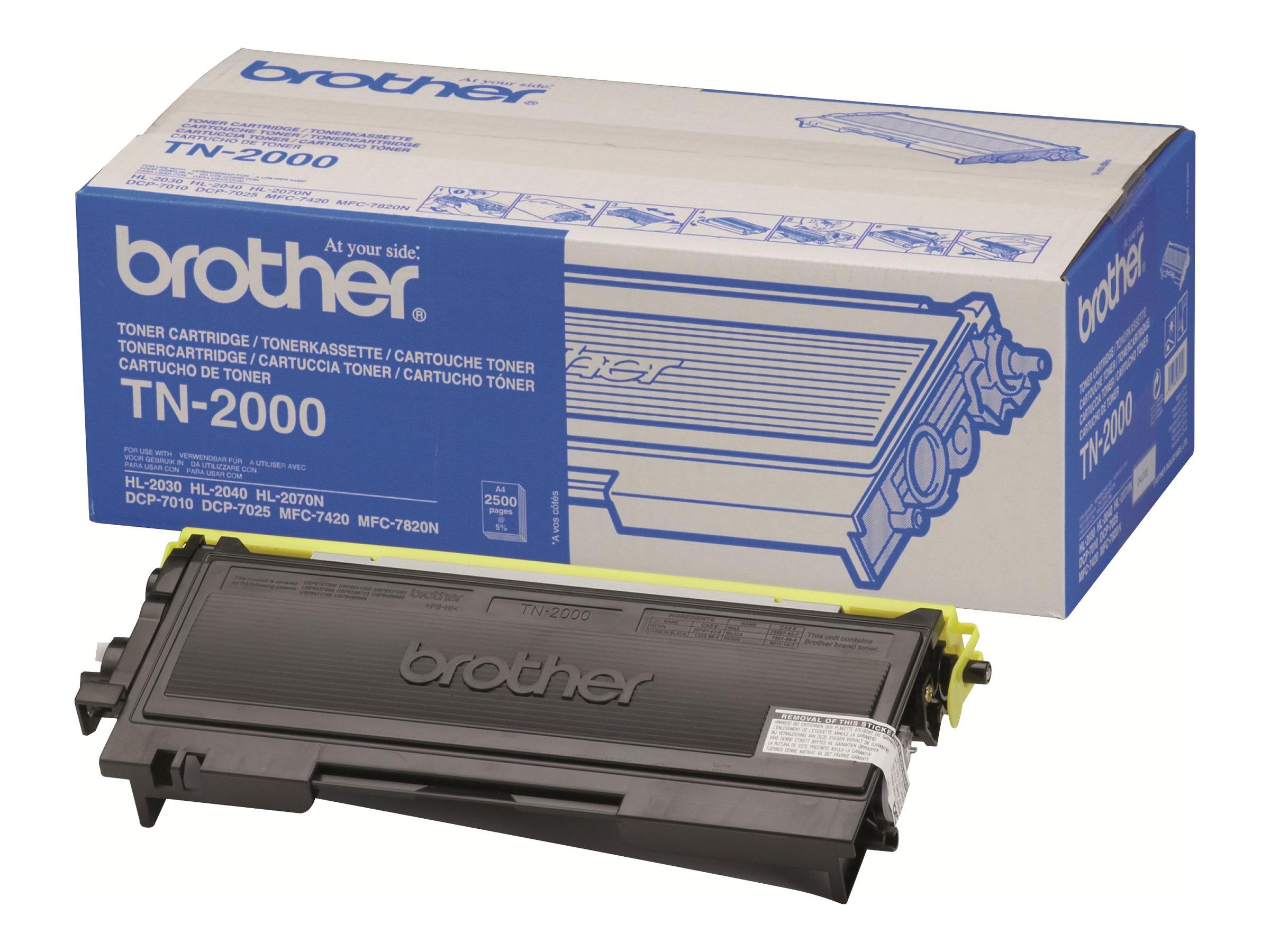 Brother TN2000 - noir - cartouche laser d'origine