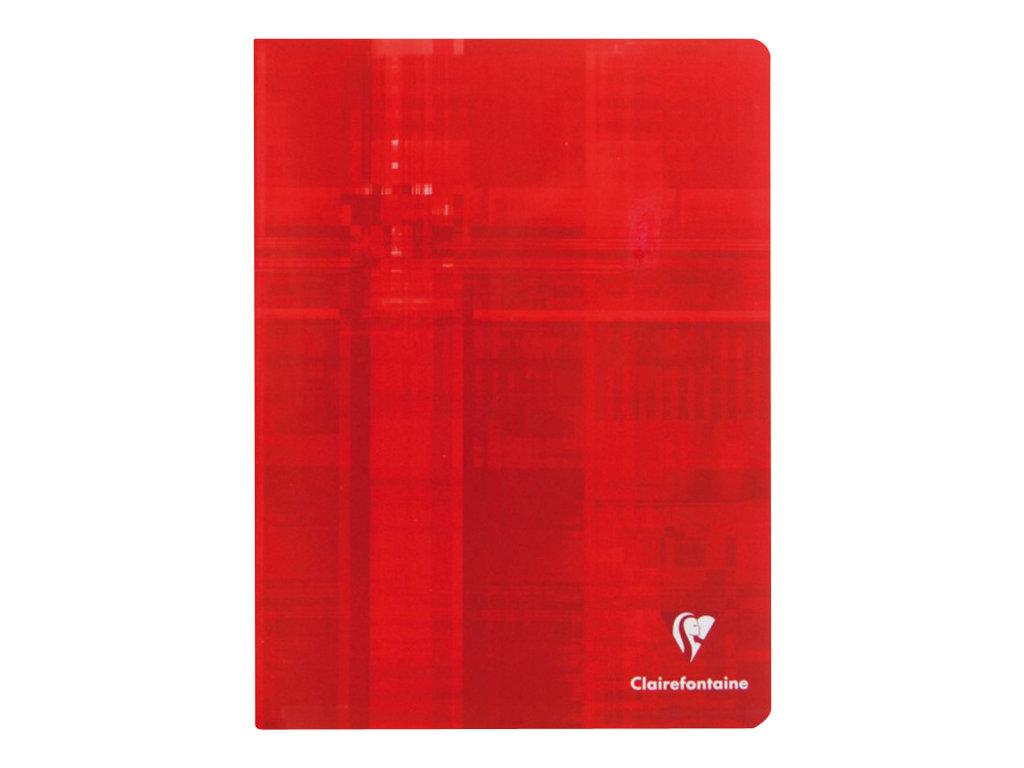 Clairefontaine - Cahier 17 x 22 cm - 96 pages - petits carreaux (5x5 mm) - disponible dans différentes couleurs