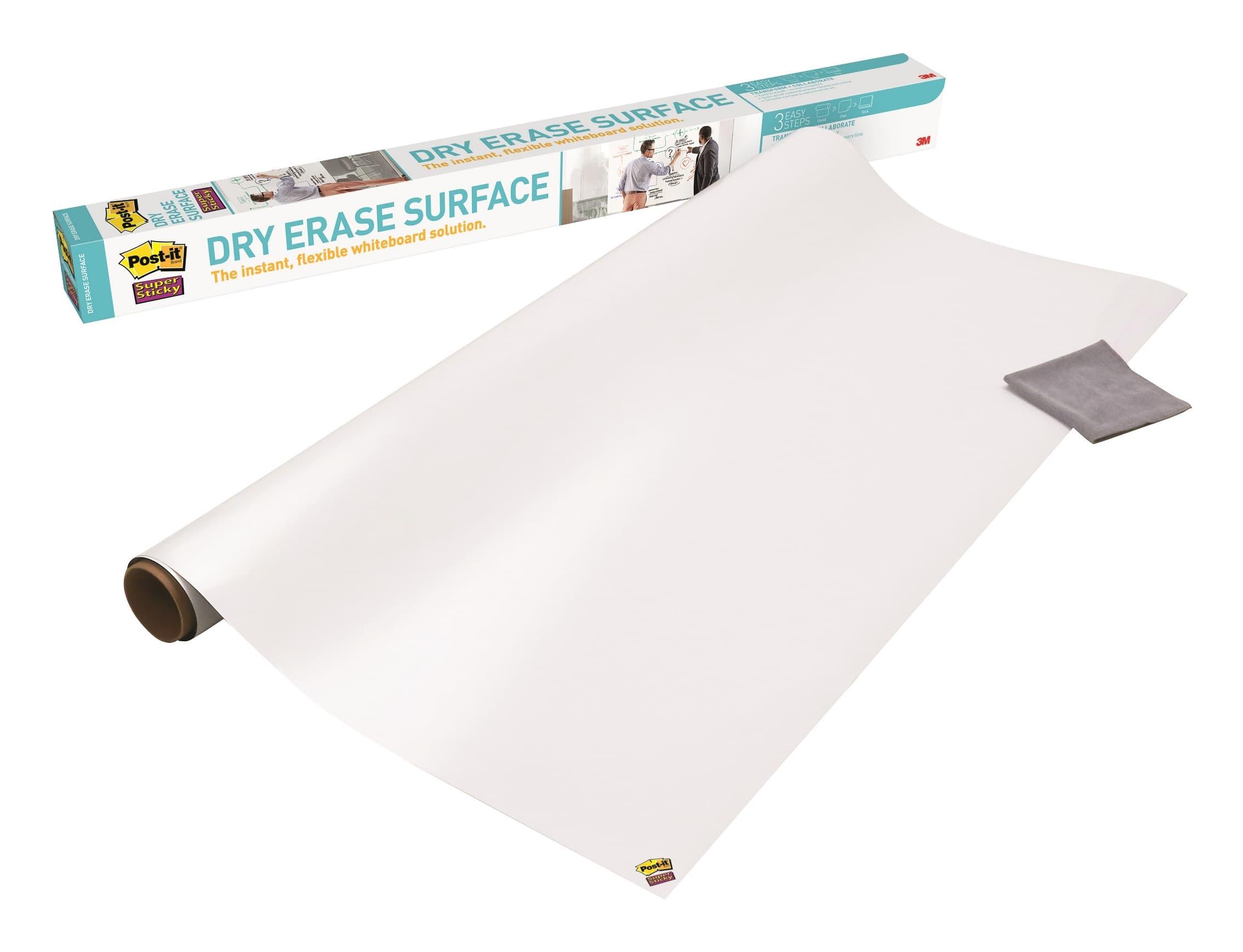 Post it - Tableau blanc Super Sticky - rouleau - 91,4 cm x 1,2 m