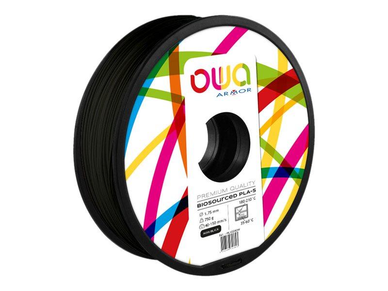 OWA - filament 3D PLA-S - noir - Ø 175 mm - 750g