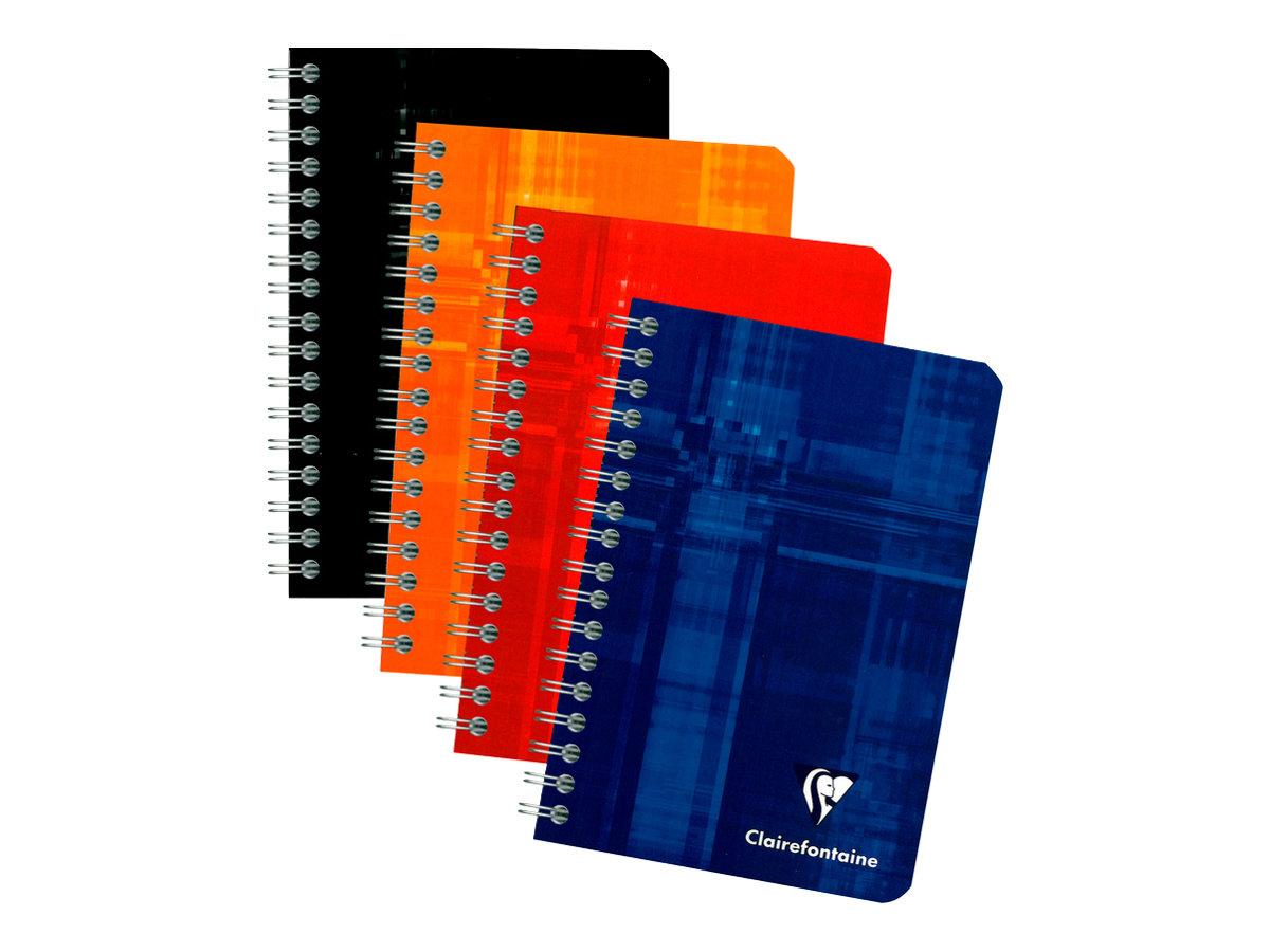 Clairefontaine - Carnet à spirale 9 x 14 cm - 100 pages - petits carreaux (5x5 mm) - disponible dans différentes couleurs