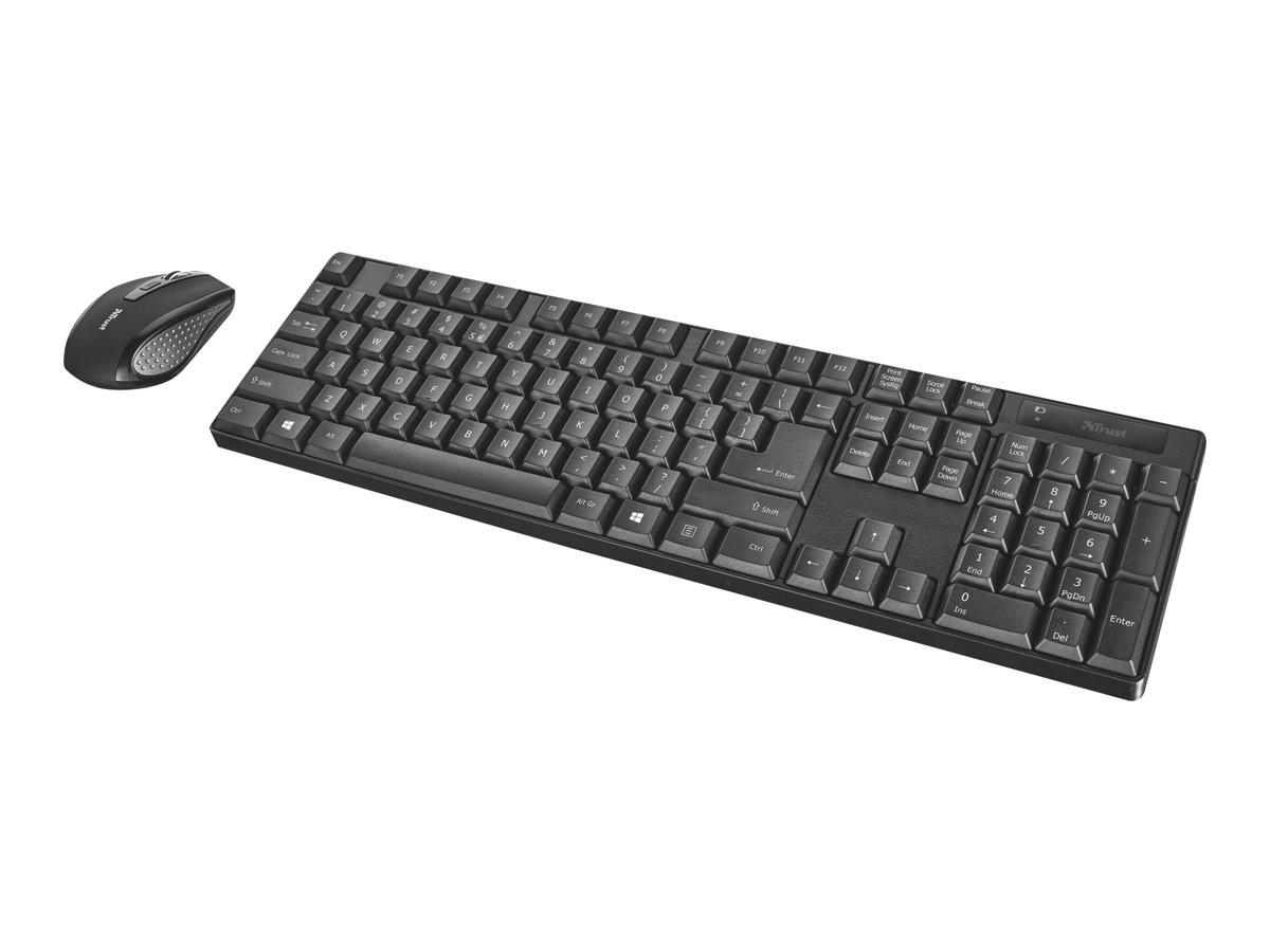 Trust XIMO - ensemble clavier et souris sans fil - Azerty