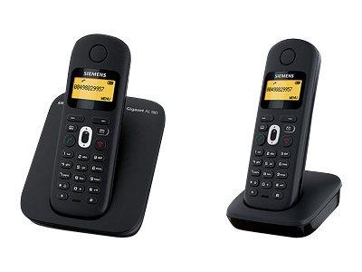Gigaset - téléphone sans fil - avec répondeur + combiné supplémentaire - noir