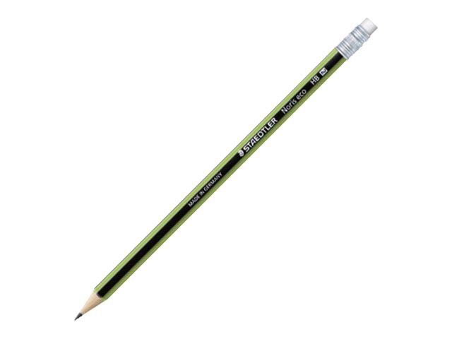 STAEDTLER Noris eco - Pack de 12 Crayons à papier - HB - embout gomme