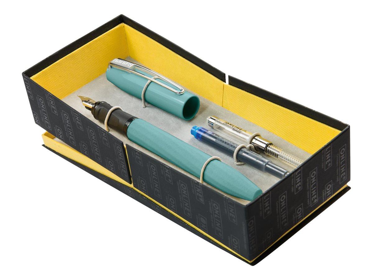 Online Slope - Coffret stylo plume bleu marine