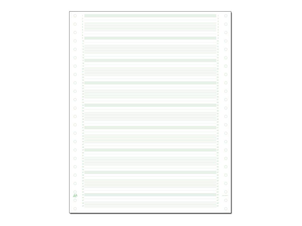Exacompta - Papier listing zoné vert/bleu - 1000 feuilles 240 mm x 11