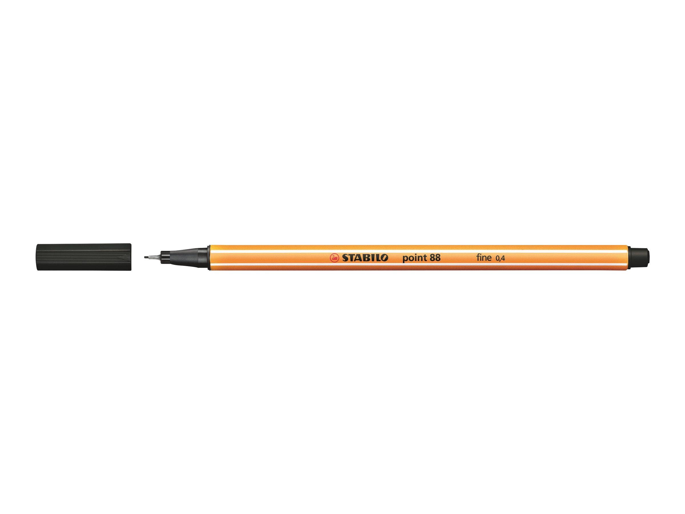 STABILO point 88 - Feutre fin - 0.4 mm - noir