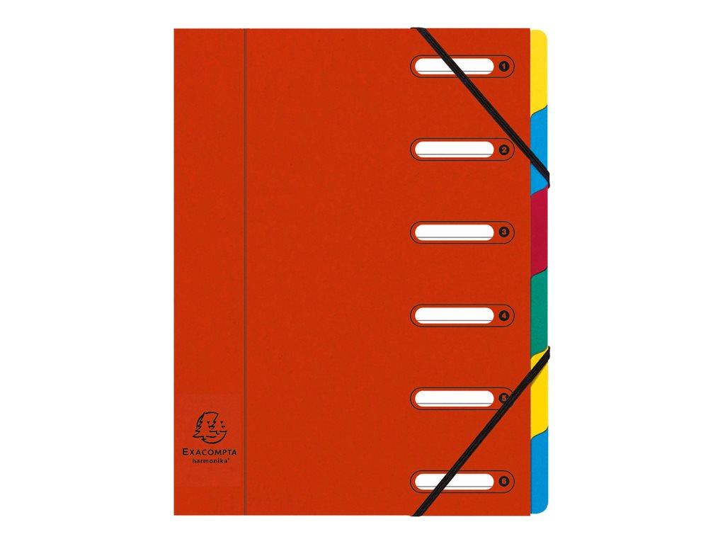 Exacompta Harmonika - Trieur à fenêtres 6 positions - rouge