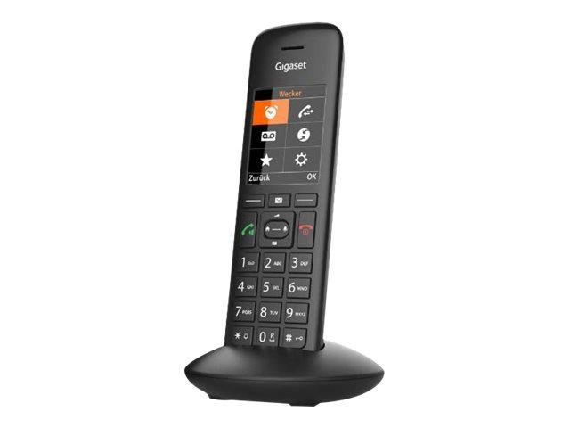 Gigaset C570A Duo - téléphone sans fil - avec répondeur + combiné supplémentaire - noir