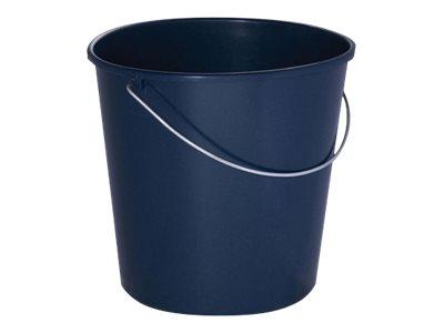 Tampel Ecoline - Seau de ménage bleu foncé - anse métal - 12L