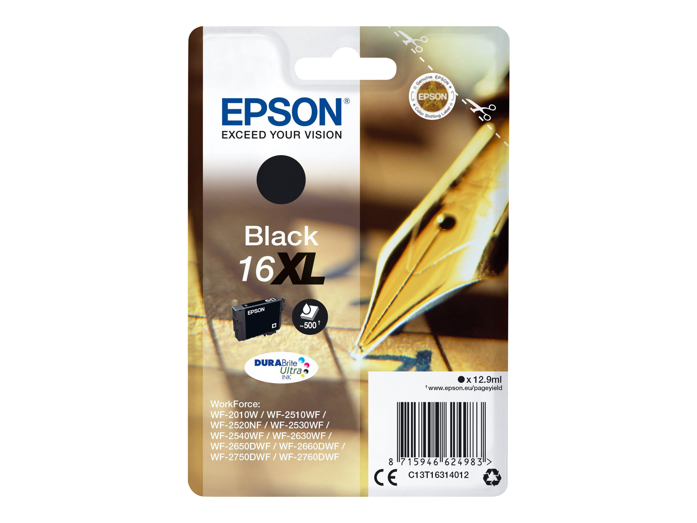 Epson 16XL Stylo Plume - noir - cartouche d'encre originale