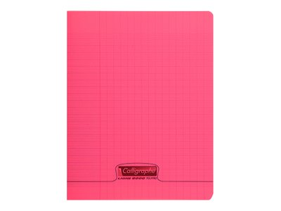 Calligraphe 8000 - Cahier polypro 17 x 22 cm - 96 pages - grands carreaux (Seyes) - rouge