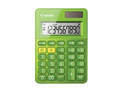 Calculatrice de bureau Canon LS-100K - 10 chiffres - alimentation batterie et solaire - vert
