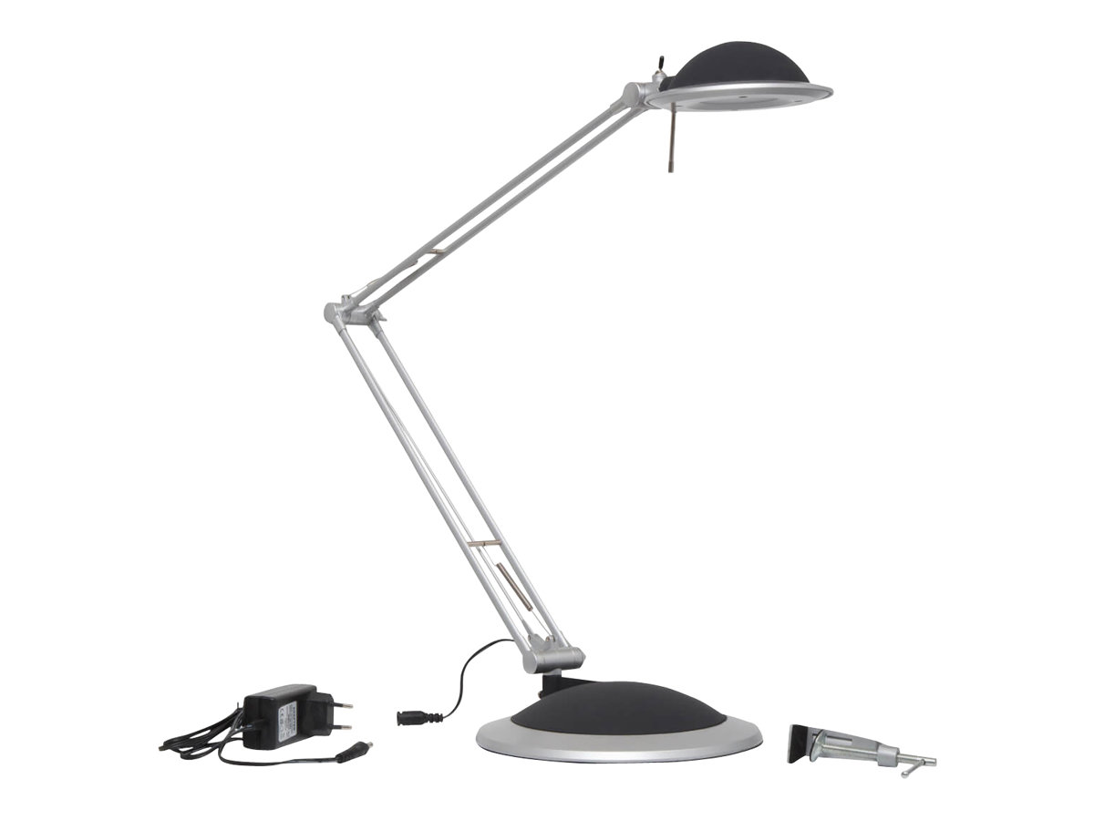 MaulBusiness - Lampe de bureau LED intégré - basse consommation 11W - argent
