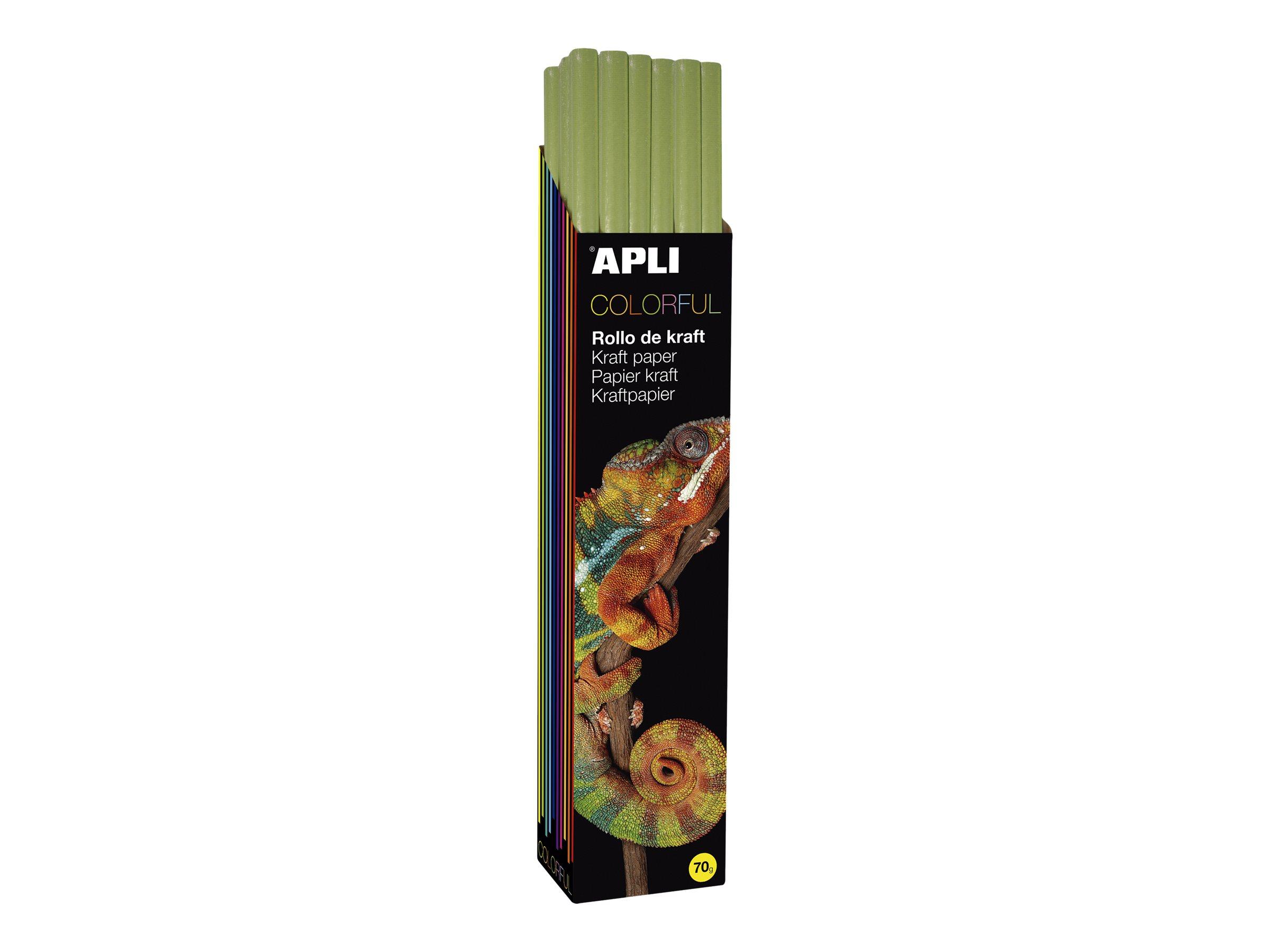 Apli Agipa - Papier cadeau kraft - 100 cm x 3 m - 70 g/m² - vert