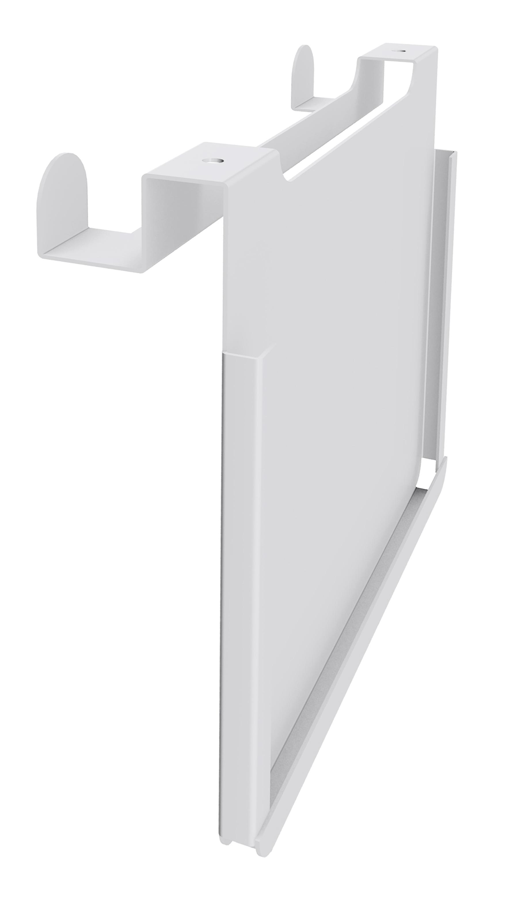 Porte document A4 et double patère IN'TEAM pour banquette et box acoustique - blanc