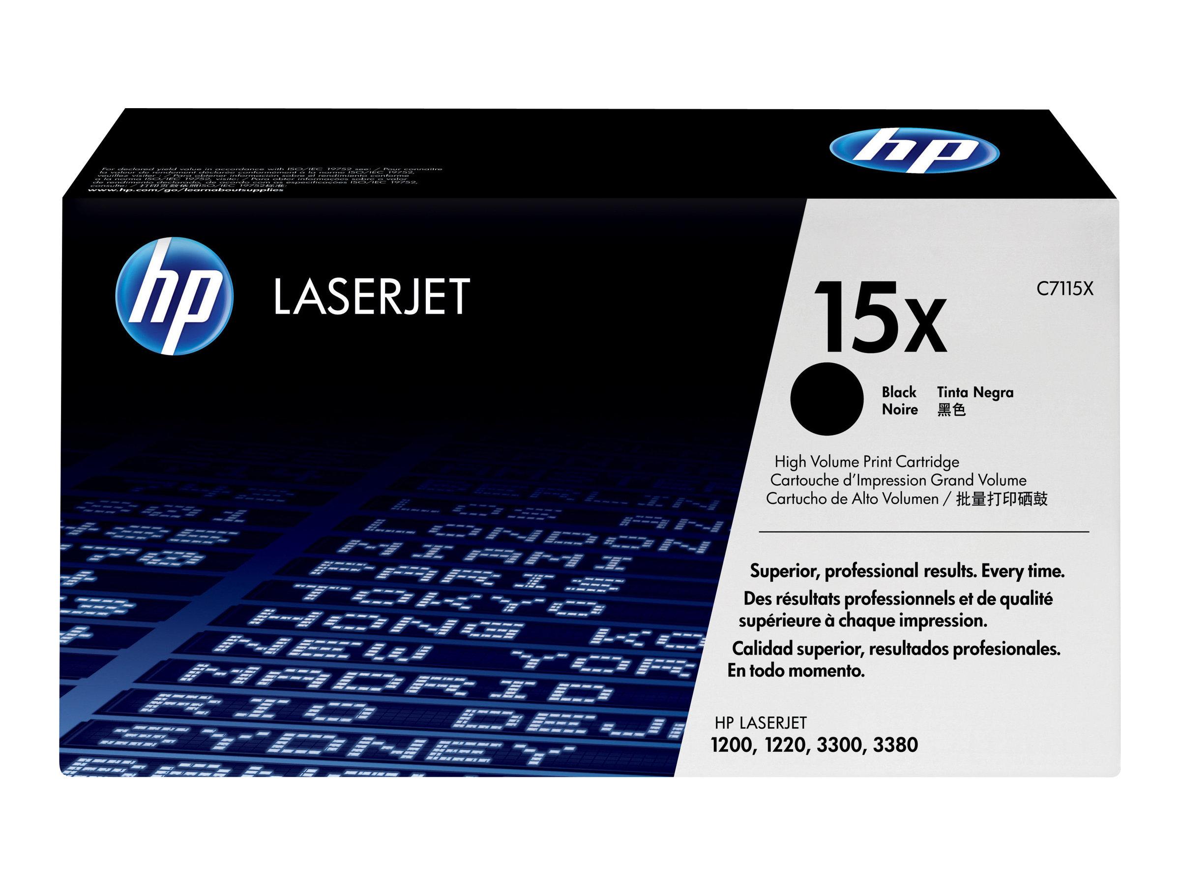 HP 15X - noir - cartouche laser d'origine