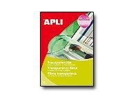 Apli Paper - Films transparents avec bande supérieure pour rétroprojecteur - A4 - 20 feuilles - impression jet d'encre