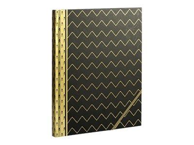 Cahier notebook 19 x 24 cm - Le Coq en papier Blue Art - Black twist