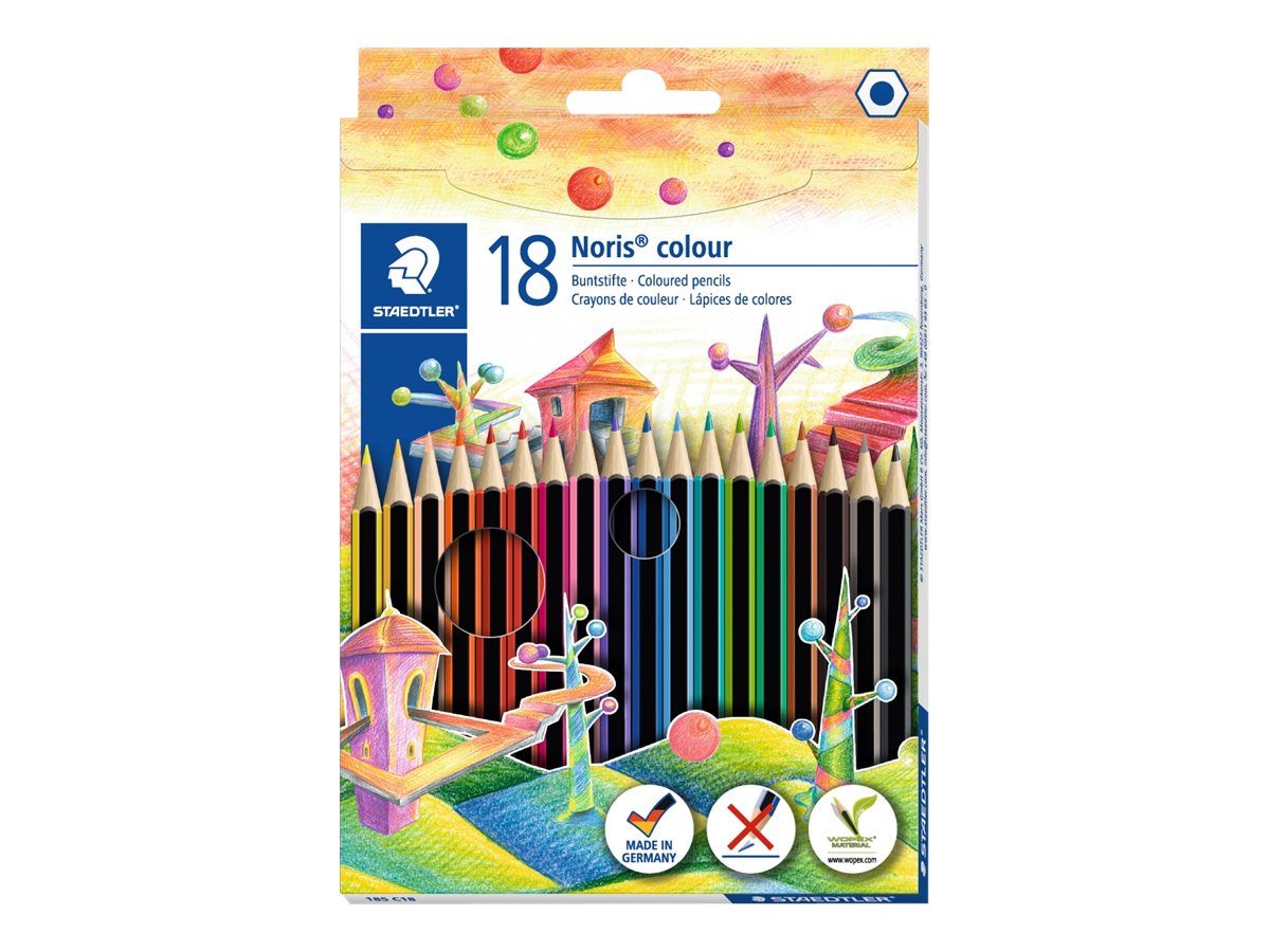 STAEDTLER Noris Color - 18 Crayons de couleur