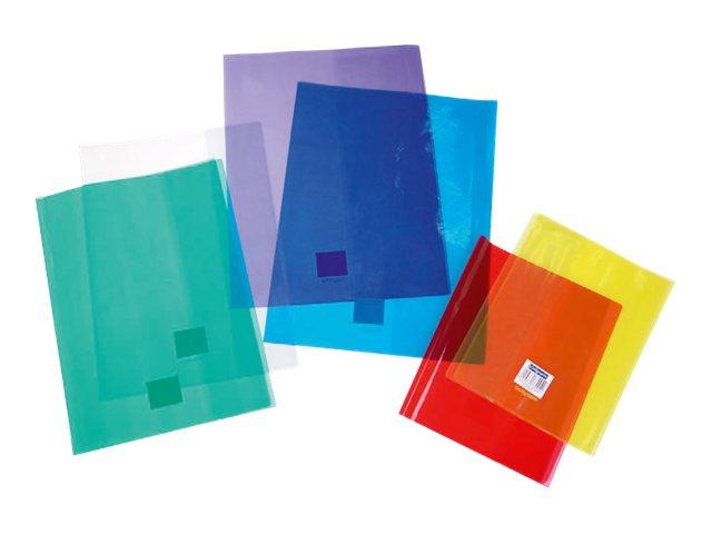 Calligraphe - Protège cahier sans rabat - 17 x 22 cm - cristalux - vert transparent