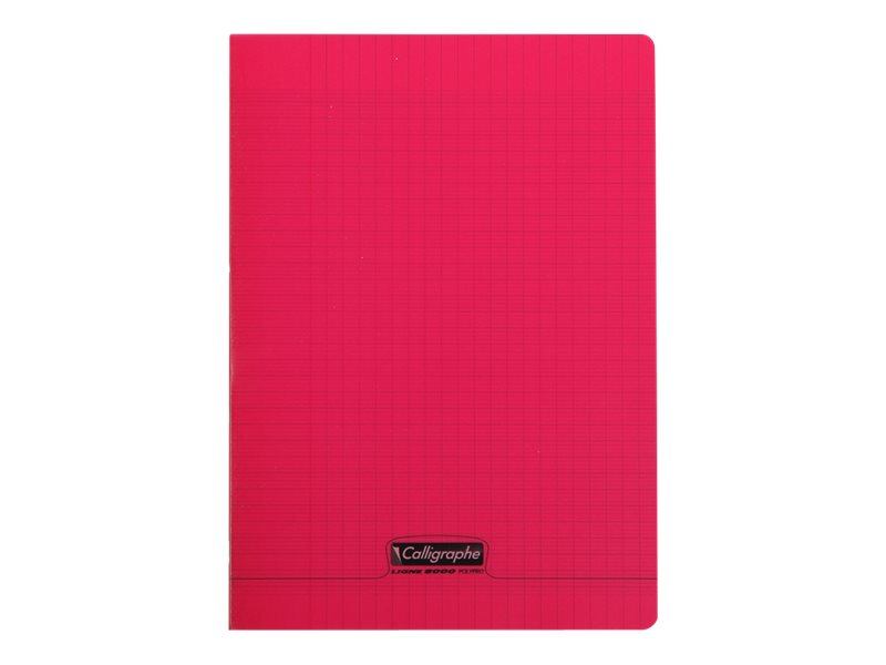 Calligraphe 8000 - Cahier polypro A4 (21x29,7 cm) - 96 pages - grands carreaux (Seyes) - rouge