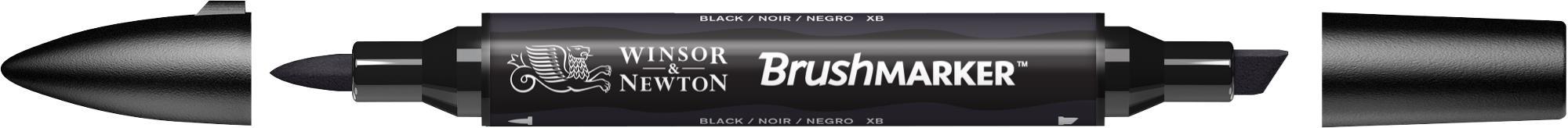 BrushMarker - Stylo pinceau et marqueur - noir
