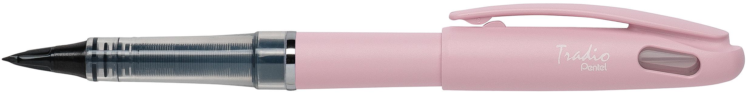 Pentel Tradio Pastel - Feutre plume - corps rose