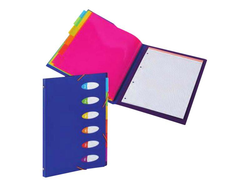 Viquel Happy Fluo - Trieur 6 positions avec bloc papier