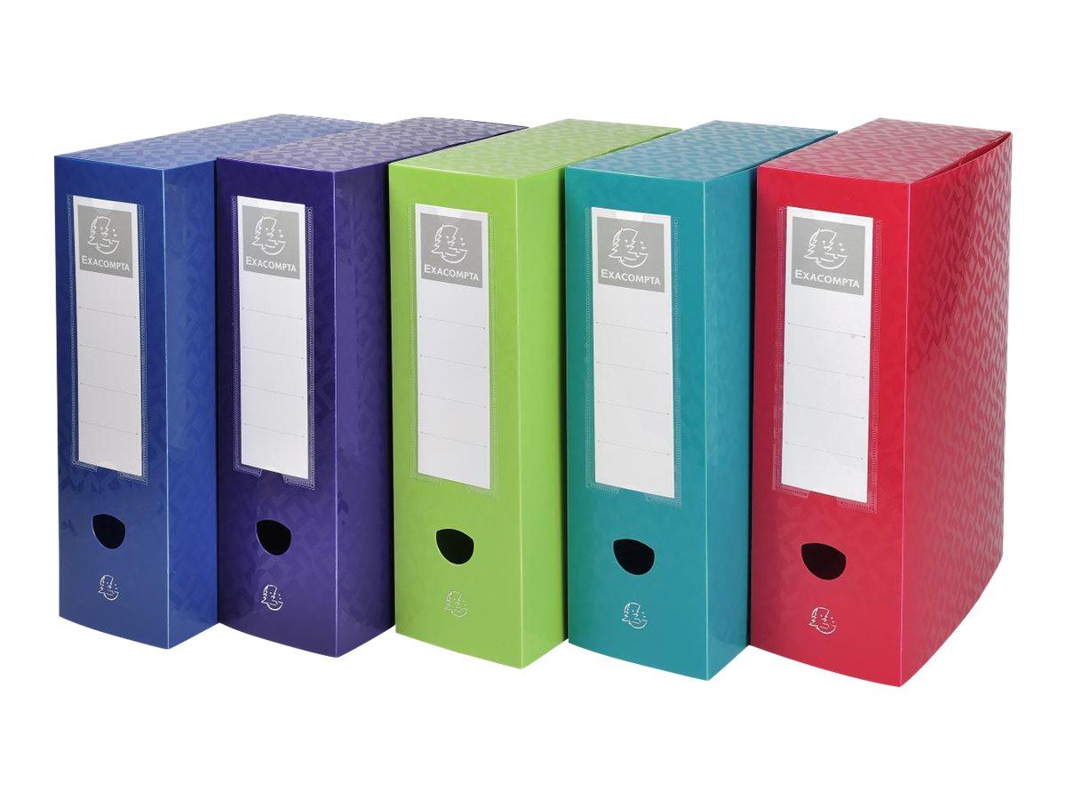 Exacompta OffiX - Boîte de classement bouton pression - dos 100 mm - disponible dans différentes couleurs
