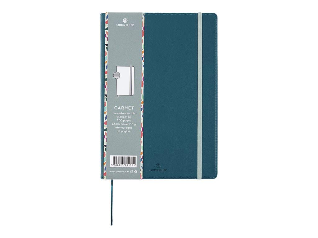 Oberthur Carmen - Carnet de notes souple A5 - ligné - 200 pages - bleu