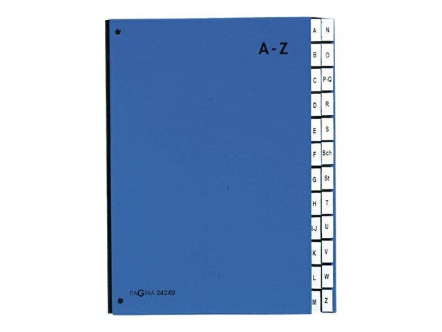 Pagna - Trieur alphabétique 24 positions - bleu