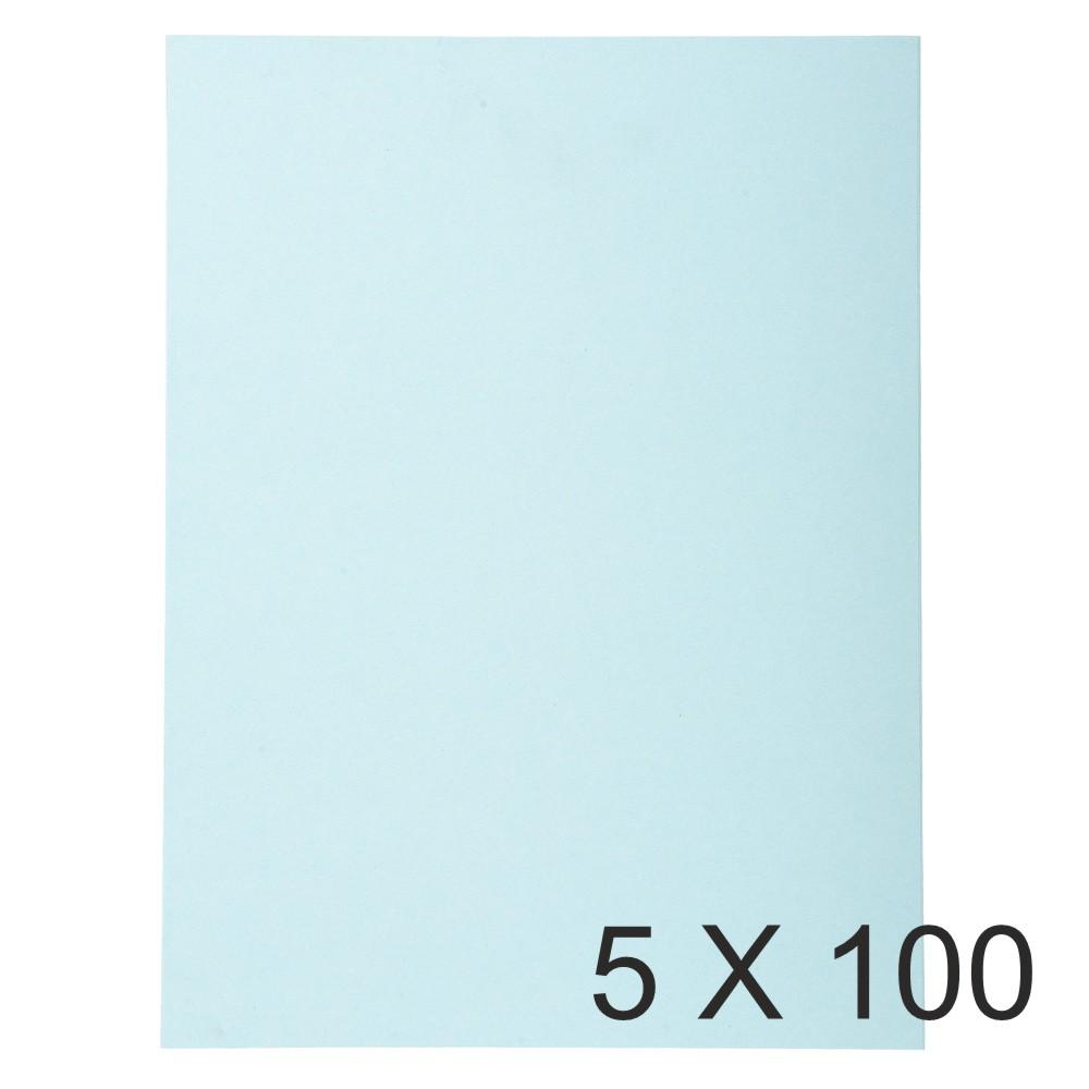 Exacompta Forever - 5 Paquets de 100 Chemises Folio - 170 gr - bleu clair