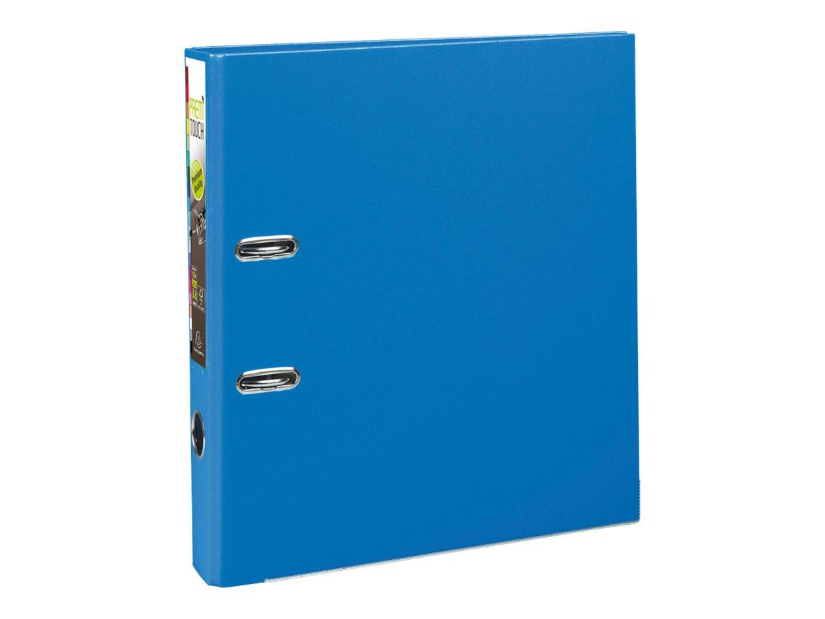 Exacompta Prem'Touch - Classeur à levier - Dos 50 mm - A4 Maxi - pour 400 feuilles - bleu