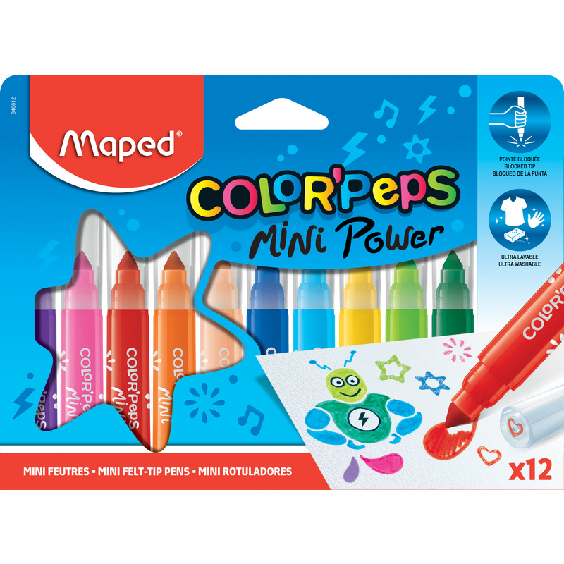 Maped Color'Peps Early Age - 6 crayons de couleur - pointe extra large