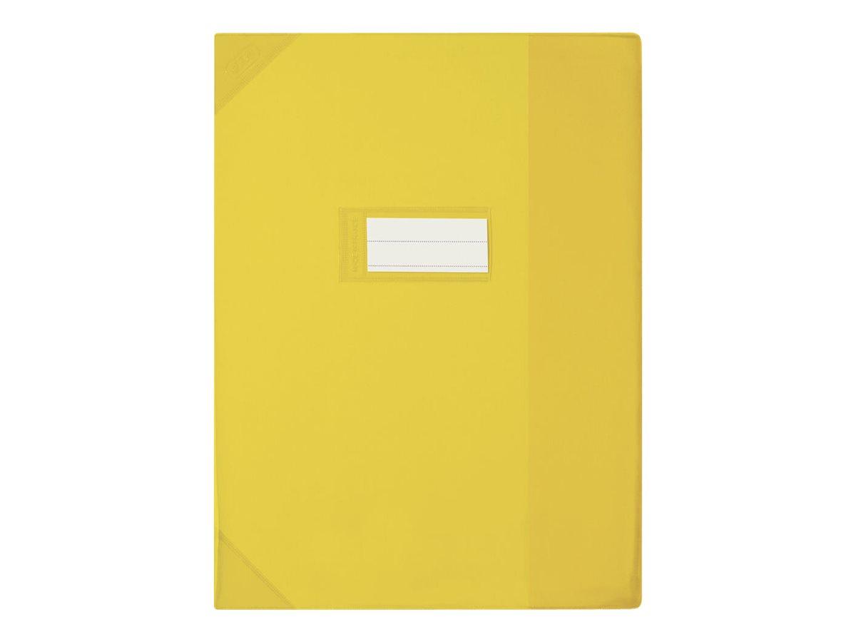 Oxford Strong Line - Protège cahier sans rabat - A4 (21x29,7 cm) - jaune translucide